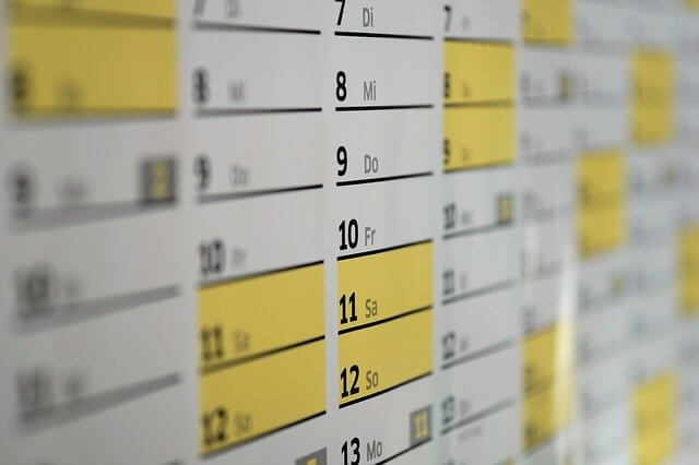 「修了試験」の日程