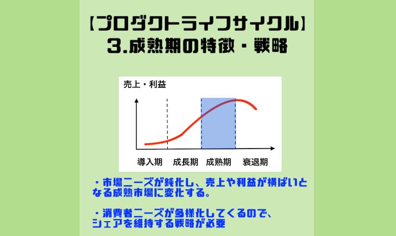 3.成熟期の特徴・戦略