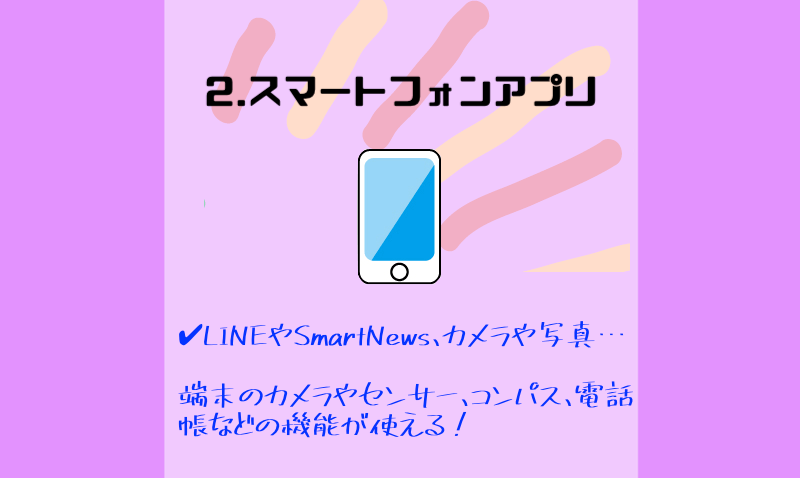 2.スマートフォンアプリの製作