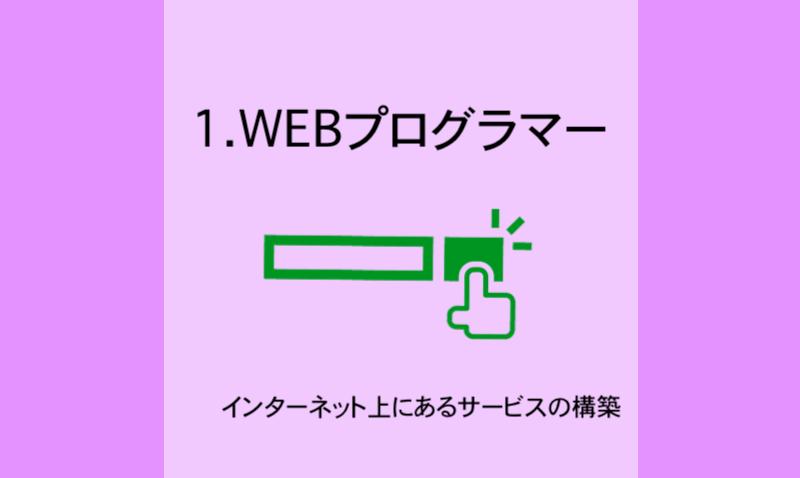 1.WEBプログラマー
