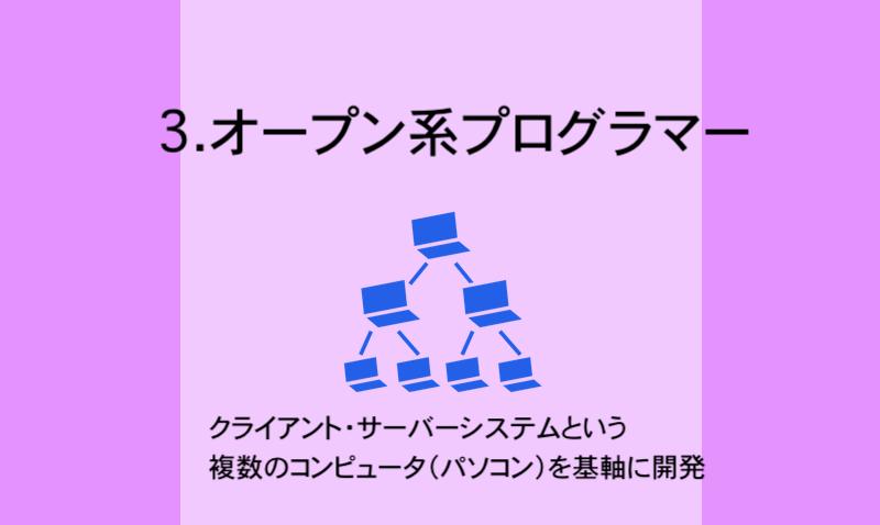 3.オープン系プログラマー