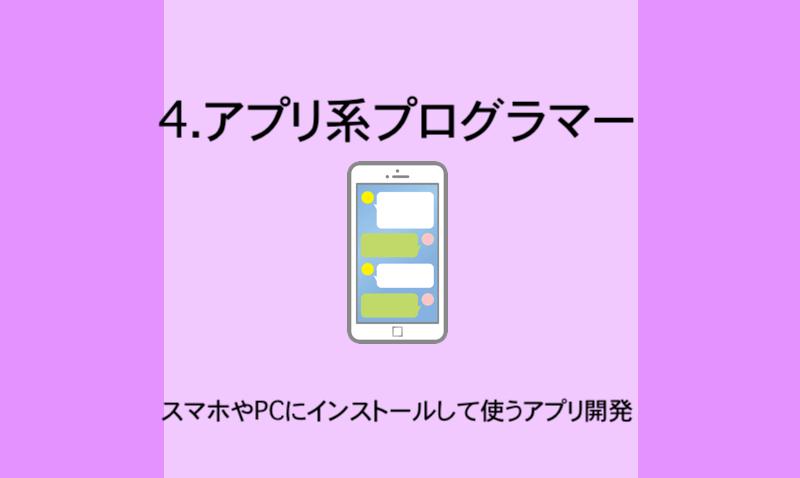4.アプリ系プログラマー