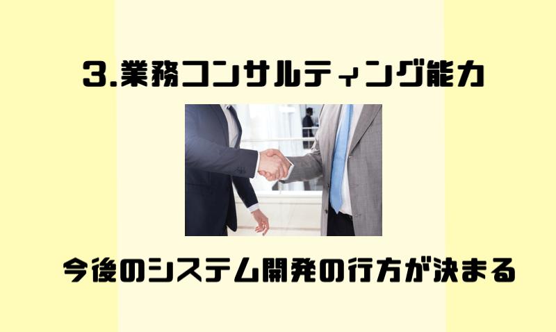 3.業務コンサルティング能力