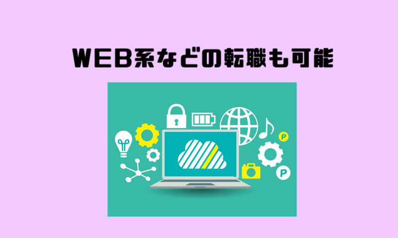 1.WEB系などの転職も可能